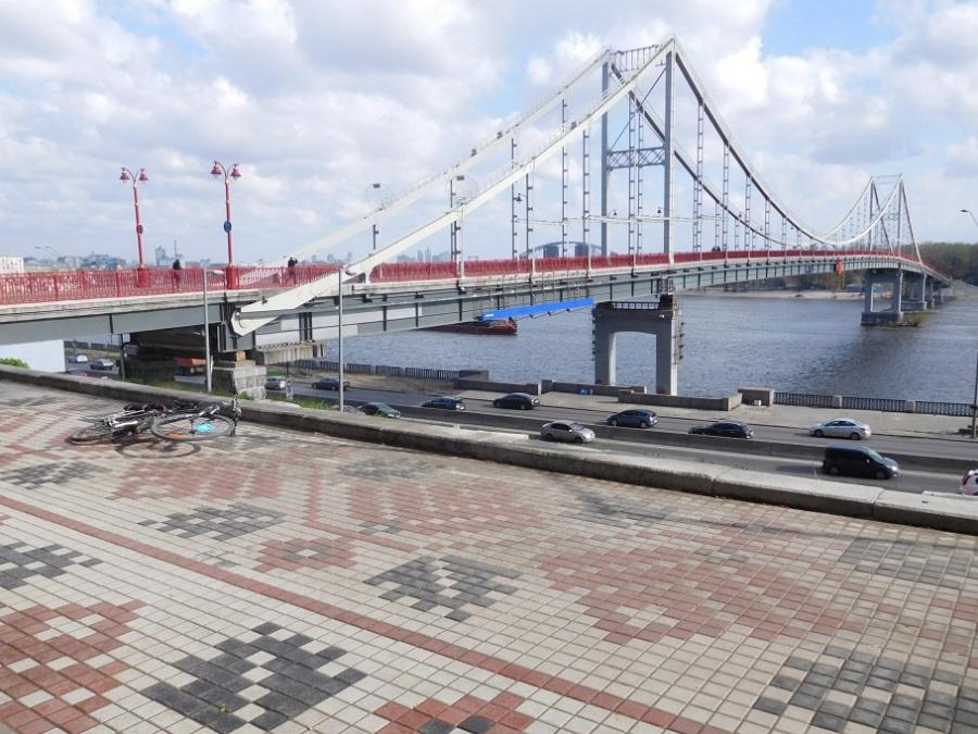 Kyiv - Pedestrian bridge